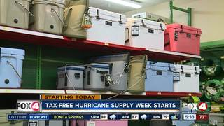 Tax-free hurricane supply week begins Friday
