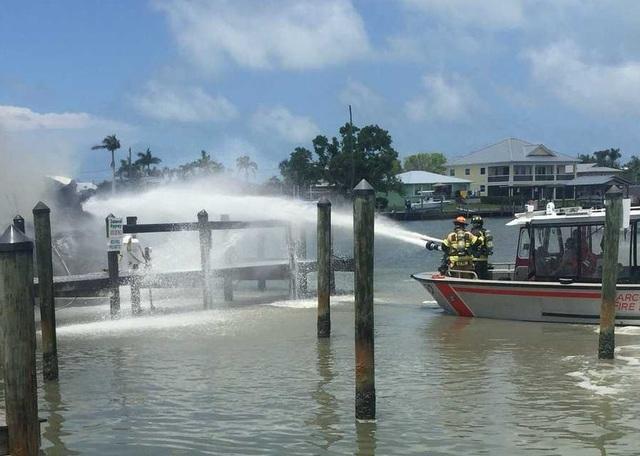 Fire Near Marco Island