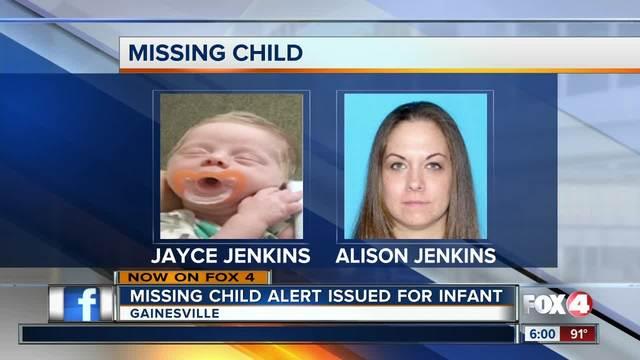 Missing Child Alert issued for infant
