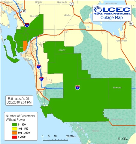 Lcec Power Outage Map Widespread power outage affects Cape Coral Wednesday