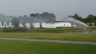 Crews respond to structure fire at golf course