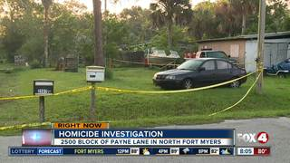 Murder investigation in North Fort Myers