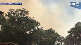 Smoke and ash cover Sanibel