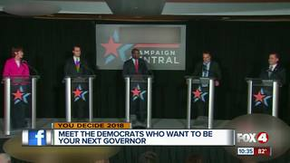 Democratic gubernatorial hopefuls spar at debate