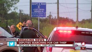Deputies search for driver of stolen car
