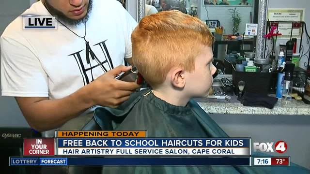 Cape Coral Salon Offers Free Back To School Hair Cuts For Kids Fox