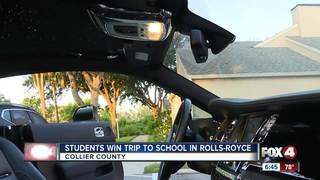 Students win trip to school in Rolls-Royce