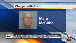Deputies: Woman set dying father's home on fire