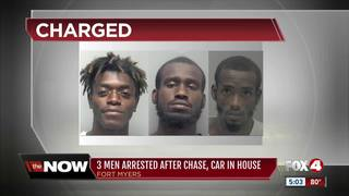 Arrests made in police chase, crash into home