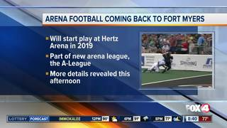 New arena football team to be announced in SWFL