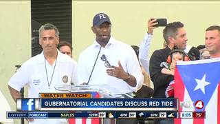 Red tide issues discussed by governor candidates