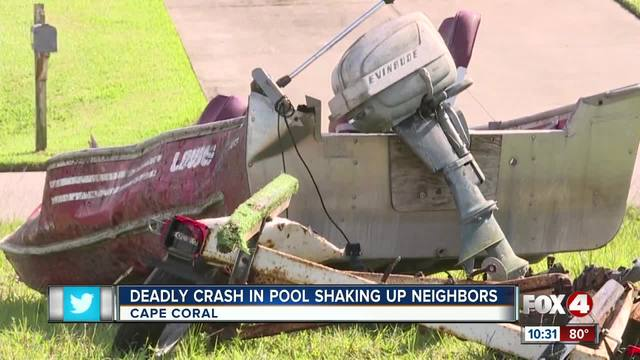 Car crashes into Cape Coral pool, leaves one man dead