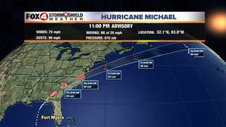 Michael moving through the Carolinas