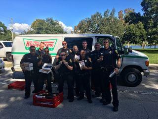 Police find stolen doughnut van, share treats