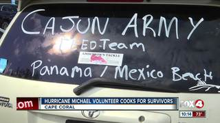 Hurricane Michael volunteer cooks for survivors