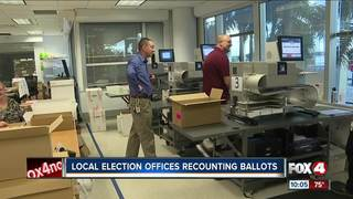 Local election offices recount ballots