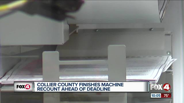 Southwest Florida counties wrapping up machine recounts
