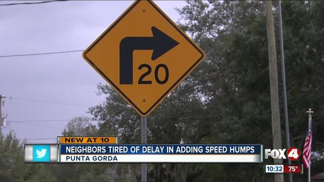 Neighbors tired of speed hump delay