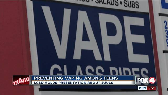 Lee County school district holds seminar against vaping-