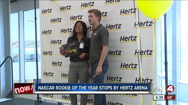 NASCAR rookie of the year stops by Hertz headquarters