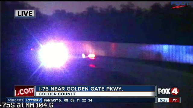 Crash closes southbound I-75 in Naples