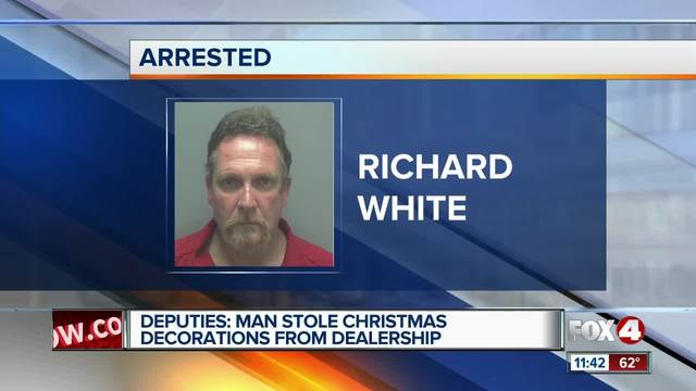 Dealership customer returns to steal Christmas decorations and other items